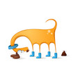 funny cute dog cartoon vector image vector image