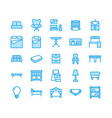 furniture flat line icons living room vector image