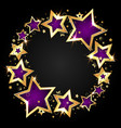 golden shiny stars festive vector image