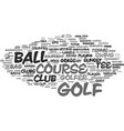 golf word cloud concept vector image vector image