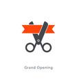 grand opening scissor ribbon icon ceremony vector image