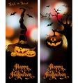 halloween night blurred background with pumpkin vector image vector image