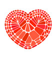 heart red color bricks tiles icon cartoon style vector image
