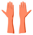 humans palm hand as concept peace gesture vector image