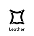 leather logo icon recycled leather symbol vector image vector image