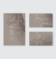 luxury soft decor dark grey wedding invitation vector image