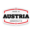 made in austria label vector image