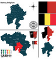 map of namur belgium vector image vector image