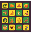 Maya Green And Yellow Icons Set vector image vector image