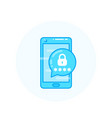 mobile security authentication via smartphone vector image vector image