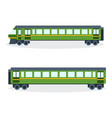 modern train on railway vector image