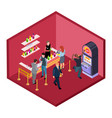 night club bar with game zone isometric vector image vector image