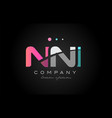 nni n n i three letter logo icon design vector image vector image