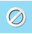 not allowed sign web icon vector image