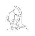 one single line drawing woman beauty abstract vector image vector image