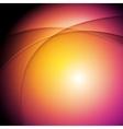 Orange purple glowing waves background vector image vector image