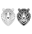 Ornamental Tiger Set vector image