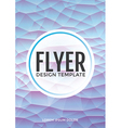 Pastel modern blue polygonal brochure flyer vector image