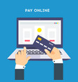 pay online concept on modern technology devices vector image