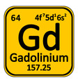 Periodic table element gadolinium icon vector image vector image
