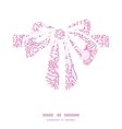 pink flowers lineart gift bow silhouette pattern vector image