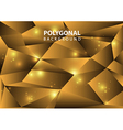 Polygonal background gold vector image