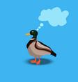 portrait of a cute duck vector image vector image