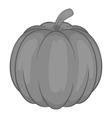 Pumpkin icon black monochrome style vector image vector image