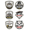 retro icons for car auto service vector image vector image
