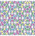 retro pattern geometric shapes vector image vector image