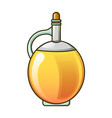 round olive oil bottle icon cartoon style vector image