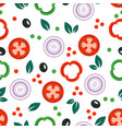 seamless vegetable pattern vector image