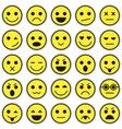 set emoticons set emoji vector image vector image
