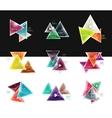Set of abstract geometric web option box banners vector image vector image
