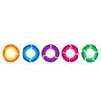 set of circle arrows vector image vector image