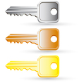 Set of house key icons vector image