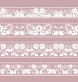 set of lace borders vector image vector image