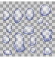 Set of Transparent Water Drops vector image
