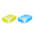 set of two colorful metal boxes vector image vector image
