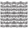 Set of vintage border brushes templates baroque