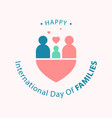 simple and flat design international day of vector image vector image
