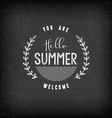 Summer Calligraphic Design in Vintage Style