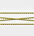 warning lines caution it is dangerous to health vector image vector image