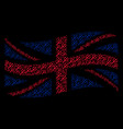 waving uk flag mosaic of trident fork items vector image vector image