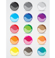 buttons design for the website template vector image