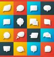 Retro converse speech bubble icons vector image