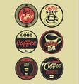 coffee vintage retro labels vector image