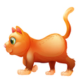 A sideview of a fat cat vector image