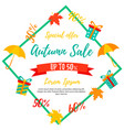 autumn sale background fall sale autumn offer vector image