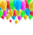 Background with glossy multicolored balloons vector image vector image